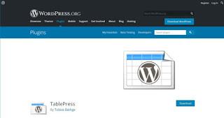 tableperss wordpress plugin