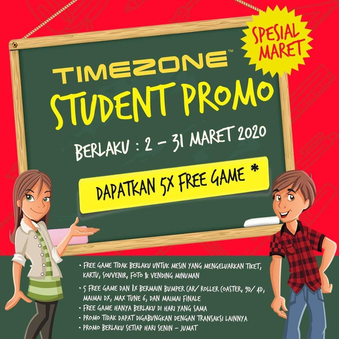 Promo Timezone Student Gratis Game 2 - 31 Maret 2020
