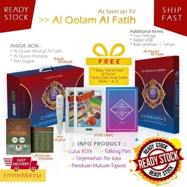 Al Qolam Mushaf Al Fatih Al Quran Digital Terjemahan Per Kata dan Iqra Teknik Fasih Mengaji As Seen On WOWSHOP