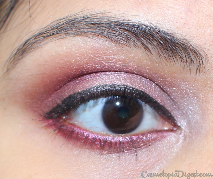 Review and swatches of the Julie Hewett Breathless Makeup Palette, and an eye makeup look.