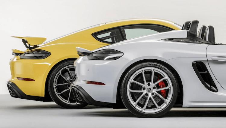 Porsche 718 Cayman Spyder And Cayman GT4 Back