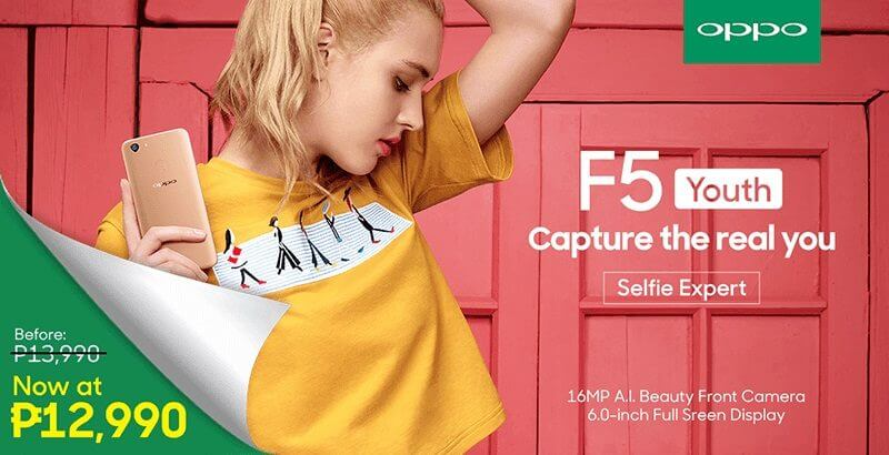 OPPO F5 Youth's Price is Now PHP 12,990