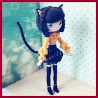 muñeca gata amigurumi