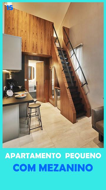 apartamento pequeno com mezanino