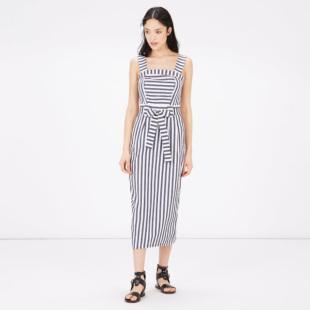 warehouse striped summer dress,