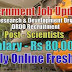 DRDO Recruitment 2020, posts of Scientist 'B' ,167 vacancies