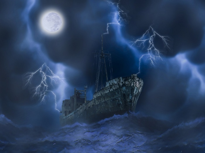 The Flying Dutchman -  A Mysterious Ghost Ship that is Doomed To Sail the Oceans Forever (the never ended journey of a ghost ship)