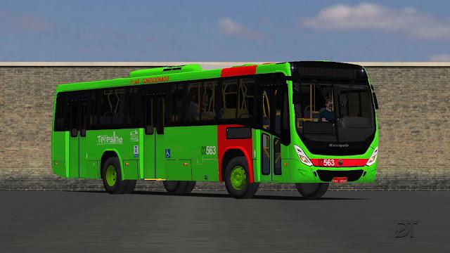 OMSI 2 - Marcopolo Torino 2014 MB OF-1724L no padrão de Teresina (PI)