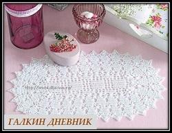 ovalnaya salfetka kryuchkom