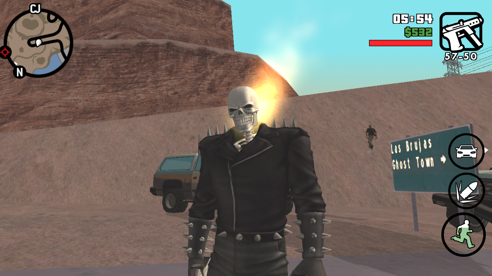 Ghost Rider mod in gta sa Android
