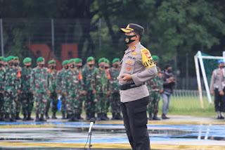 Gelar pasukan Operasi Lilin 2020, Kapolres Pelabuhan Makassar Jadi Komandan Upacara