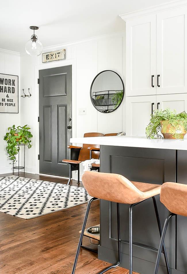vintage modern kitchen and mudroom