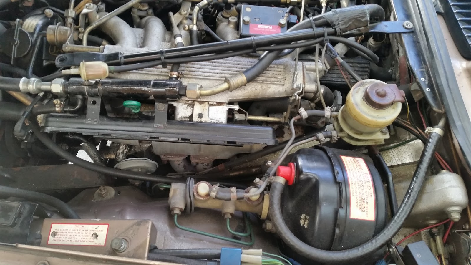 Jaguar Xjs Auxiliary Air Valve High Idle Engine Wiring In Order To Access The Aav Properly I Moved Bar And Filter Completely