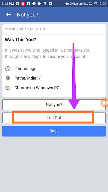 Facebook id ko kisi bhi device se kaise logout kare