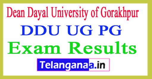 DDU Gorakhpur Result 2018 Gorakhpur University Results