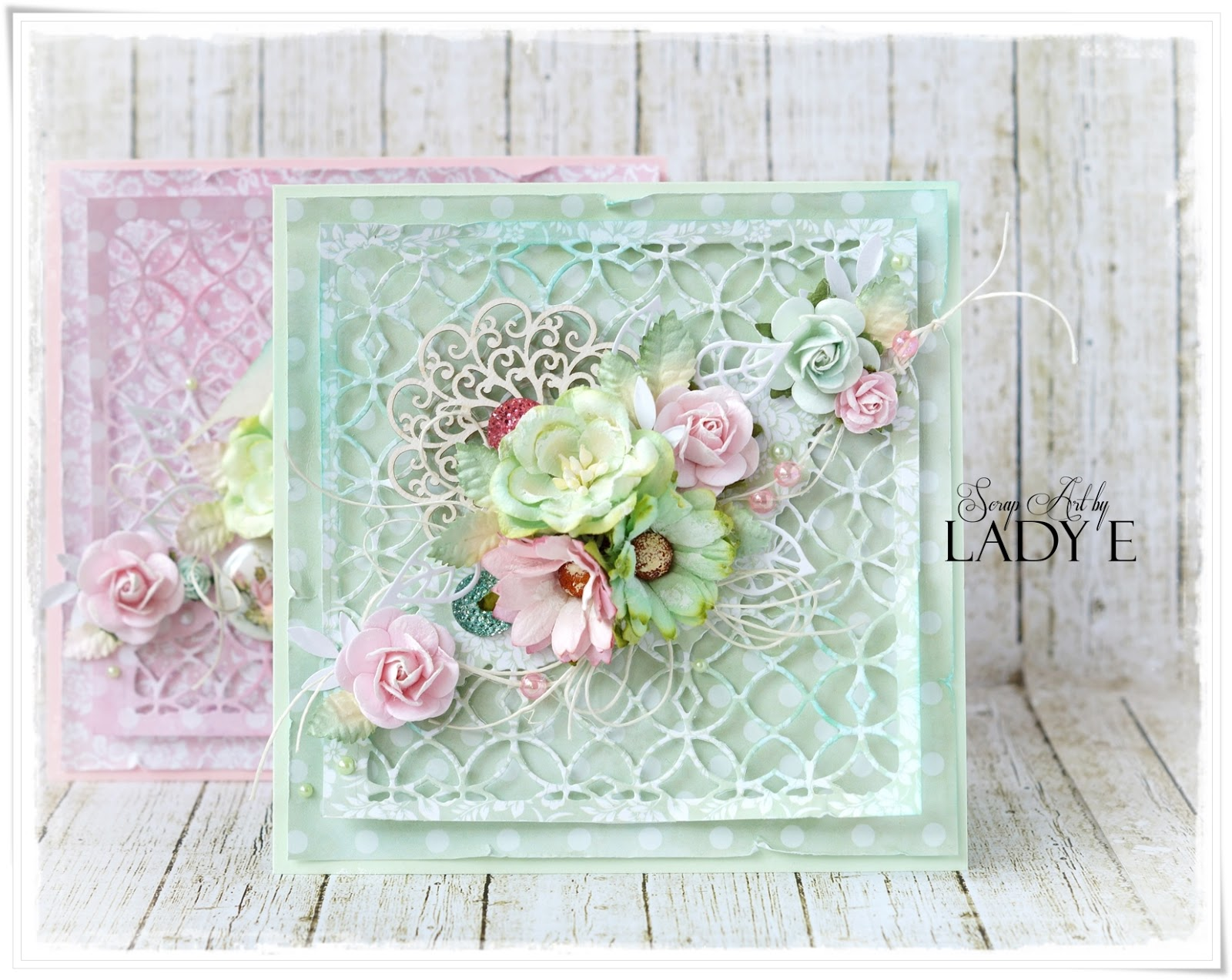 Wild Orchid Crafts Pink Amp Mint 2 Pastel Cards