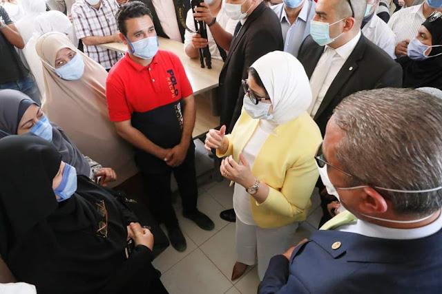 """بعد شكاوى أهالي اللاهون.. وزيرة الصحة تتفقد وحدة صحة """"جرفس"""" بالفيوم"""