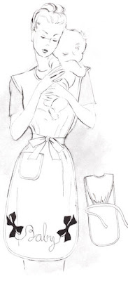 free vintage mommy apron sewing pattern