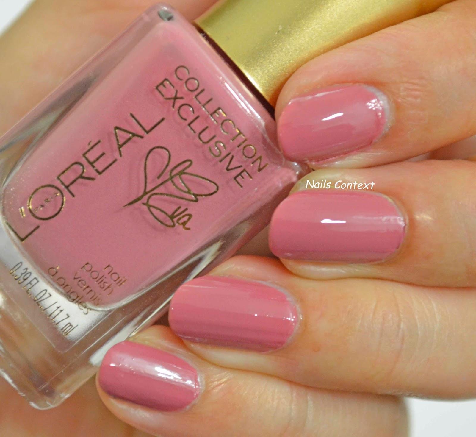 Nails Context: L\'oreal la vie en rose collection swatches