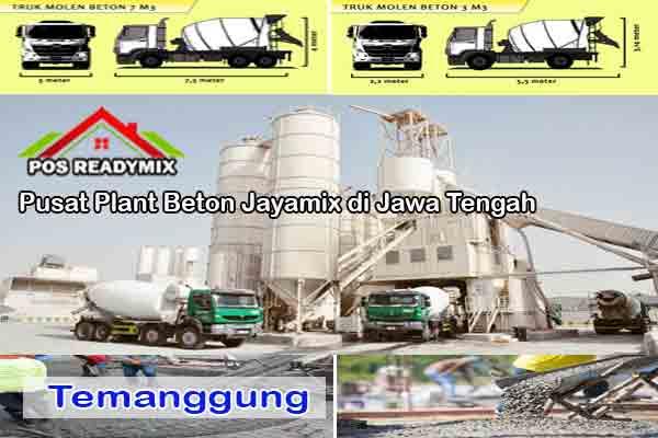 Harga Cor Beton Jayamix Temanggung Per m3 Terbaru 2021