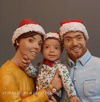 statuine realistiche personalizzate famiglia idea regalo moglie modellino coppia orme magiche