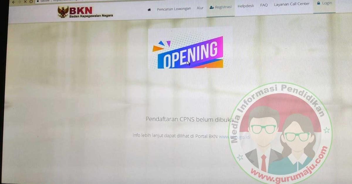 Cara Membuka Situs sscn.bkn.go.id dengan Mudah - GURU MAJU