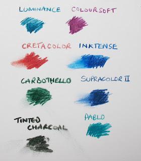 A comparison of coloured pencils