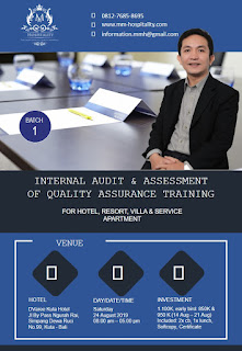Hotelier Training Program (Bali): Internal Audit of Quality Assurance