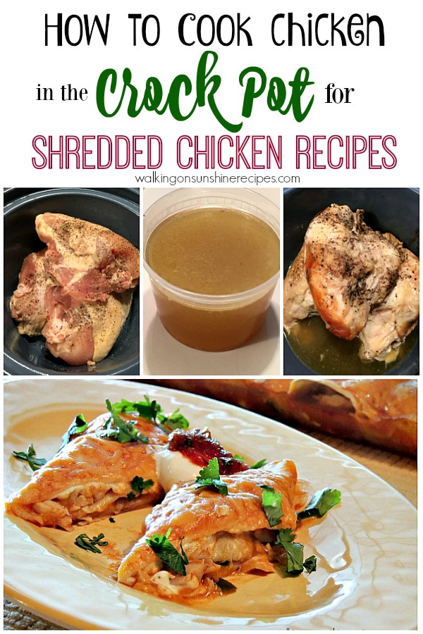 Shredded Chicken Recipes from Walking on Sunshine Recipes