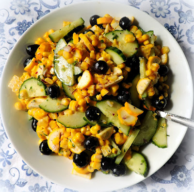 Blueberry & Corn Salad