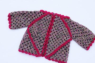 4 - Crochet IMAGEN Chaqueta de exagonos a crochet y ganchillo. MAJOVEL CROCHET