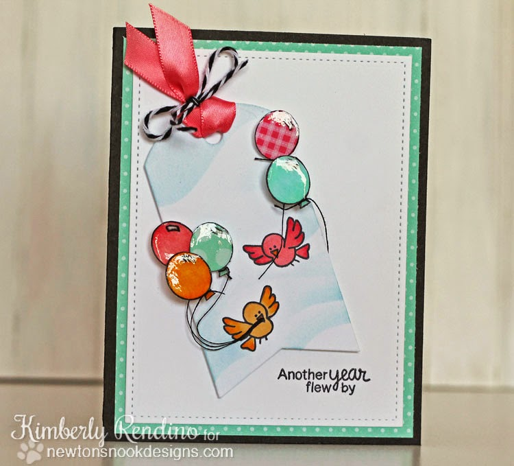 Newton's Birthday Flutter card by Kimberly Rendino | Newton's Nook Designs |