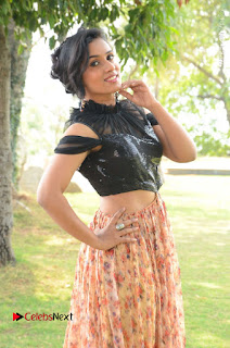 Actress Chetana Uttej Stills in Floral Long Skirt at Pichiga Nachav Movie Press Meet  0026.JPG