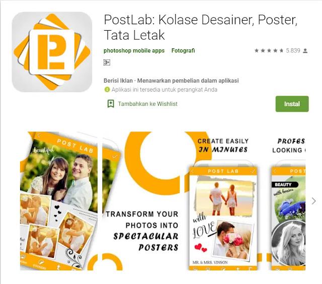 Aplikasi Membuat Poster - PosterLabs