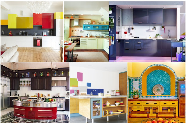Latest Modern Colorful Kitchen Designs
