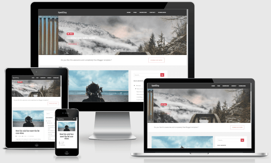 Sparkling - Responsive News and Magazine Blogger Template