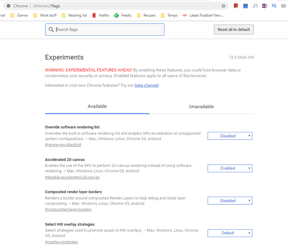 #chrome flags how to access