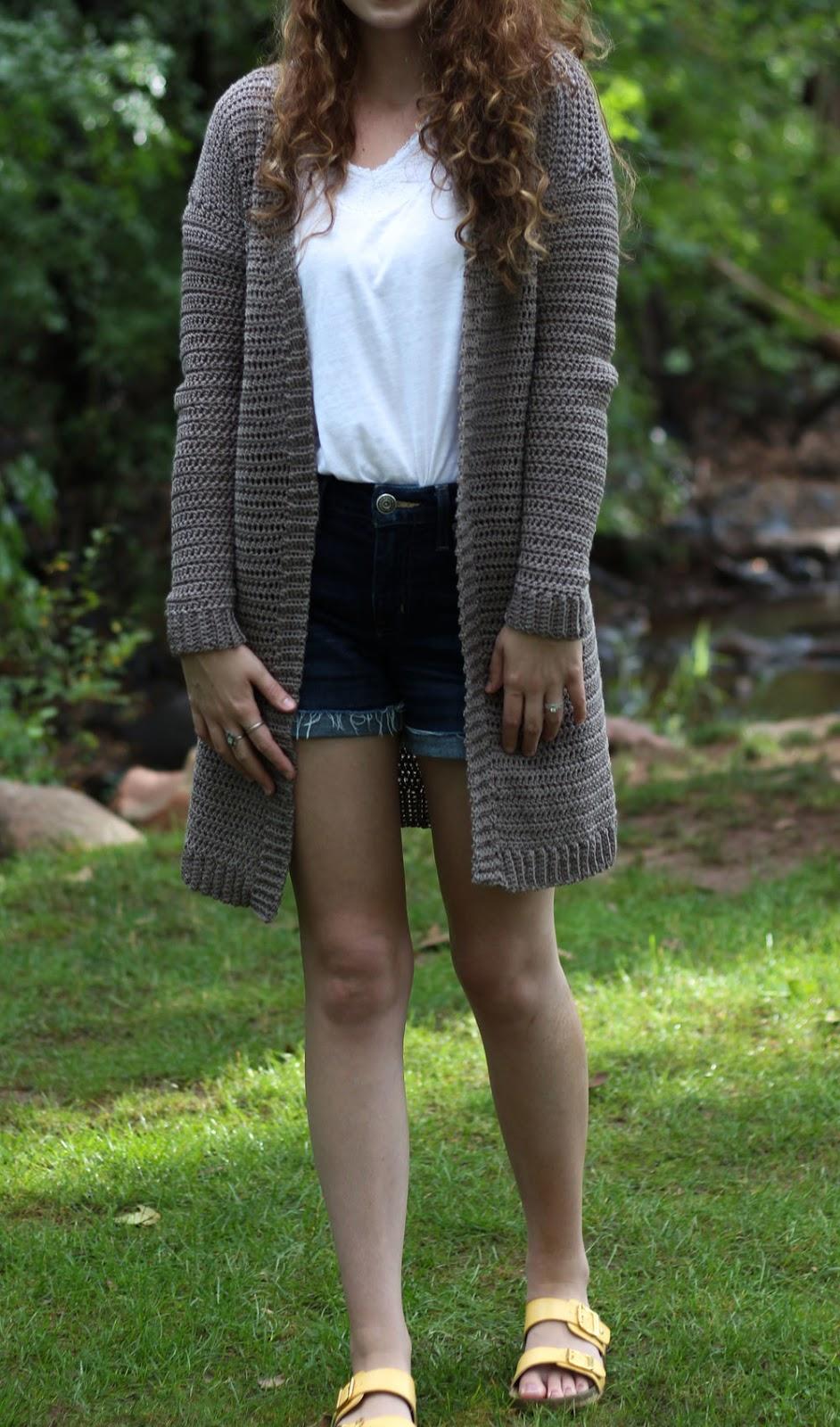 Goede Lang Herfst Vest Haakpatroon - Long Fall Cardigan Crochetpattern JA-89