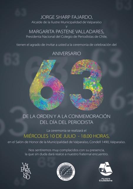 Consejo Nacional celebra 63 años del Colegio de Periodistas