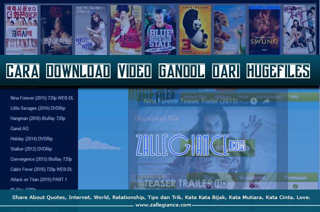 Cara Baru Download Video Ganool Dari Hugefiles
