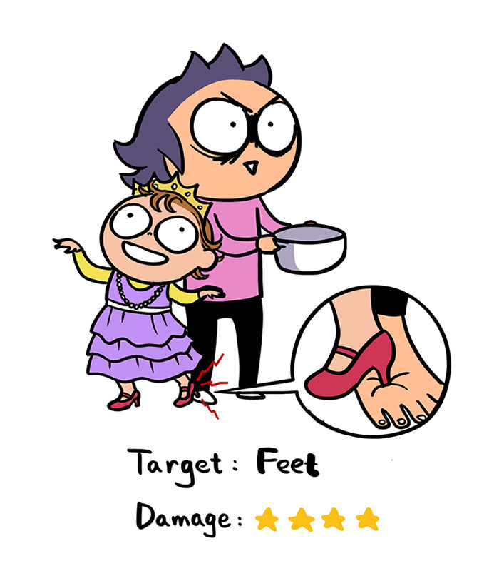 Hilarious Illustrations Depict How A Two-Year-Old Can Hurt Its Parents