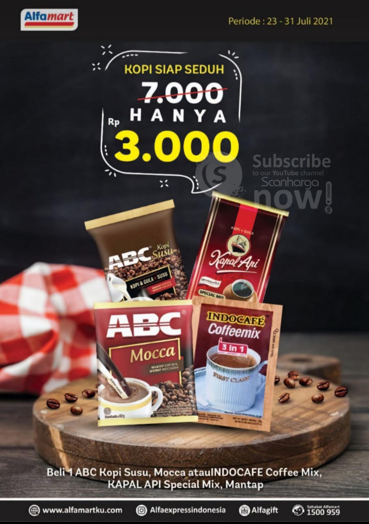 ALFAMART Promo Kopi Siap Seduh Harga hanya Rp. 3.000