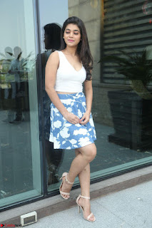 Yamini in Short Mini Skirt and Crop Sleeveless White Top 040.JPG