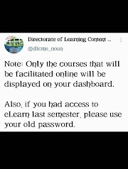 STUDENTS SHOULD TAKE NOTE OF THIS DURING ONLINE LECTURE
