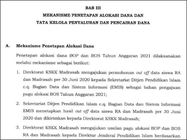Juknis Penyaluran BOP RA dan BOS Madrasah
