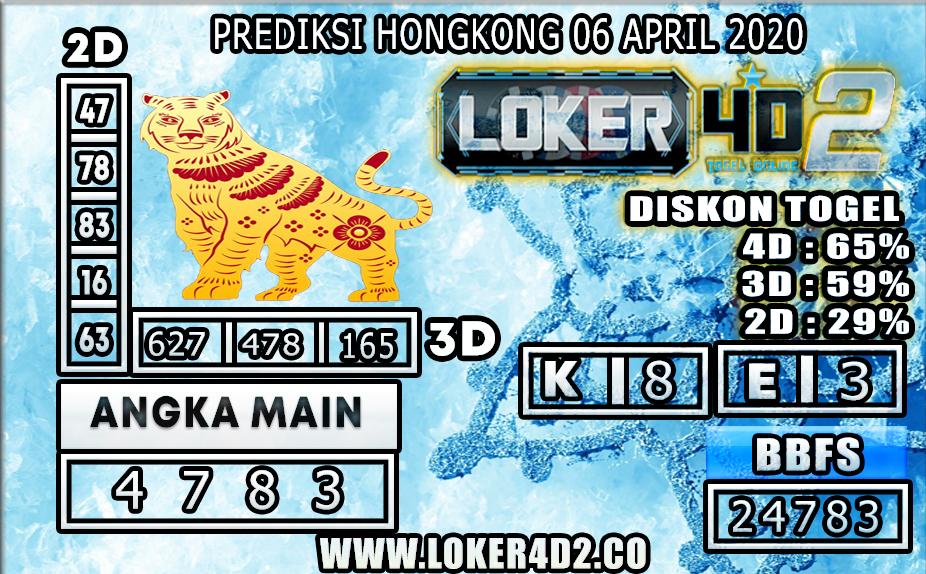 PREDIKSI TOGEL HONGKONG LOKER4D2 06 APRIL 2020