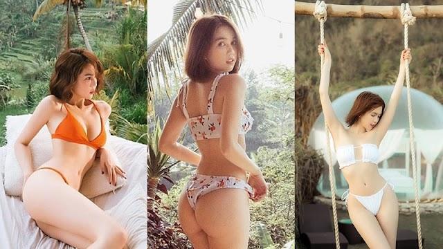 Clip hậu trường cực chất trong bộ ảnh bikini bé tí tẹo có như không, Ngọc Trinh