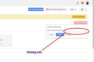 Mengisi sitemap di Google Webmaster