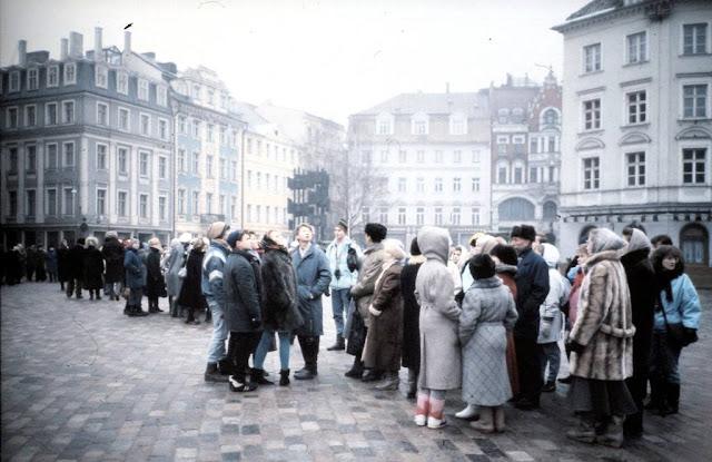 1989 год. Рига. На Домской площади