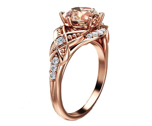 Unique Rose Gold Wedding Rings